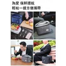 質感保溫包 保冷保溫斜跨單肩 可背 飯盒保溫袋上班族帶飯的午餐便當包 贈冰袋