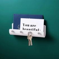 免打孔掛鉤 浴室置物 客廳玄關置物架 信件架