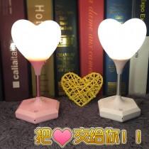 可愛日系軟妹少女房間 公主臥室LED愛心遙控感應迷你小夜燈 檯燈 餵奶護眼燈