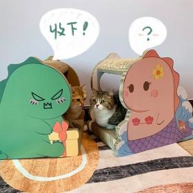 恐龍貓抓板