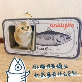 美國Tinklylife 魚罐頭貓抓板